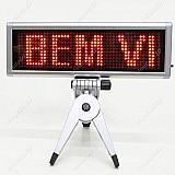 Letreiro luminoso portatil 22x8cm usb painel de led digital