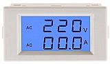 Voltimetro amperimetro lcd 300v 100a   tc painel eletrico ac