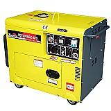 Gerador 6000w 10hp diesel p. eletrica   painel td7000sge-ats
