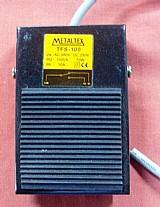 Pedal chave metalico de acionamento eletrico metaltex