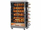 Assador de frango a gas/eletrico progas style - pr 631n capac. 60kg com 6 espetos giratorios bivolt