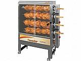 Assador de frango a gas eletrico progas style - pr 621n capac. 40kg com 4 espetos giratorios bivolt