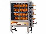 Assador de frango a gas/eletrico progas style - pr 623n capac. 40kg com 4 espetos giratorios bivolt