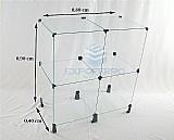 Estante vidro temperado vitrine de loja 90x80