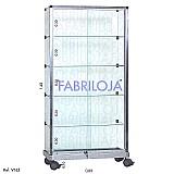 Vitrine torre vidro modulado - 0, 80 x 1, 60 x 0, 30