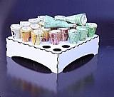 Porta cone tubets branco para festa expositor para doceria