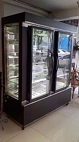 Refrigerador expositor de luxo para confeitaria/doceria