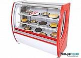 Balcao vitrine refrigerada para bolos e doces premium 1, 50m
