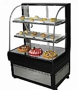 Vitrine refrigerada para bolos e doces linha luxo delta