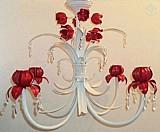 Lustre em ferro tulipa 50diam 4 lampadas