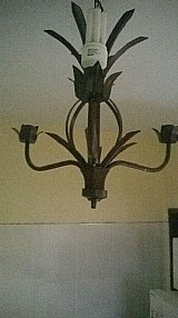 Lustre em ferro artesanal