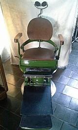 Antiga cadeira de dentista / barbeiro suprema / decada de 40