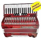 Sanfona acordeon todeschini 80 baixos sanfona novo na caixa