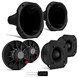Kit som carro 2 tweeter 100w   2 driver   2 cornetas curtas