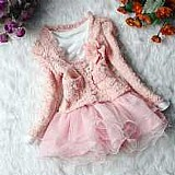 Vestido conjunto casaco infantil importado no brasil    3 opinioes   novo   78 vendidos