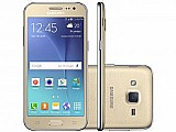 Smartphone samsung galaxy j2 tv duos 8gb dourado - dual chip 4g cam 5mp tela 4.7