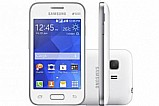 Smartphone samsung galaxy young 2 duos tv dualchip - 3g android 4.4 cam. 3mp tela 3.5
