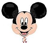 Bexiga/balao metalizado rosto 27 polegadas mickey mouse