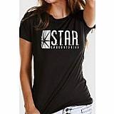 Camiseta feminina the flash serie star laboratories - bandup