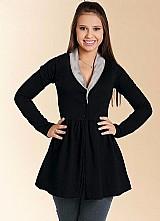 Casaco sobretudo feminino gola pelo roupas femininas
