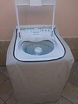 Capa para maquinas de lavar roupas pvc flanelado com ziper