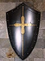Escudo medieval decorativo templario - parede - aco inox