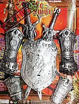 Armadura bracelet escudo espada medieval cavaleiros fantasia