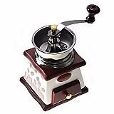 Moedor triturador, de graos pimenta ou cafe em madeira caixa
