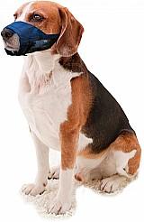 Focinheira nylon com tela para caes pet shop varios tamanhos