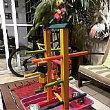 Playground p/ papagaio com bandeja higienica