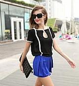 Blusa feminina preta e branca cod. 984