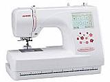 Maquina de bordar janome mc370e - eletrônica painel lcd