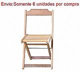 Cadeira dobravel p/ bar e restaurante madeira macica natural
