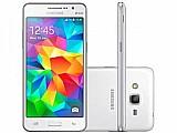 Smartphone samsung galaxy gran prime duos 8gb - branco dual chip 3g cam. 8mp   selfie 5mp tela 5
