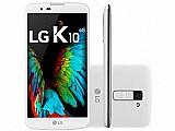 Smartphone lg k10 tv 16gb branco dual chip 4g - cam 13mp   selfie 8mp flash tela 5.3