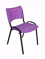 Cadeira para restaurantes,  igrejas,  sorveterias roxa