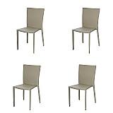 Cadeira para restaurante barata nova milao kit 4  jantar cozinha