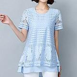 Blusa feminina azul bebe cod. 1004