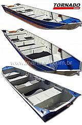 Barco de aluminio martinelli tornado 550 semi chato plataformado - borda alta - para pesca com iscas artificiais - tucunare,  robalo,  dourado