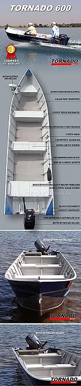 Barco de aluminio martinelli tornado 600 borda alta  de 50 cm