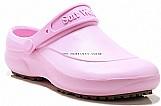 Sapato hospitalar branco  uso profissional soft works bb60 - rosa