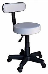 Cadeira mocho para dentista podologo tatuador base preta