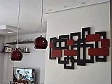 Adorno de parede para sala de jantar em mdf. 1 x 0, 60 metros