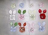 Adornos decorativos flor metalica para lustres,  adornos decoracao - varias cores