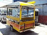 Camargo trailer amarelo listrado p/ lanches