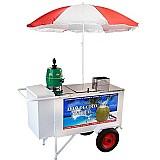 Carrinho de água de coco luxo street food - armon