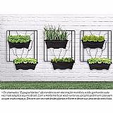 Painel horta jardim vertical suspenso externo varanda 51x51