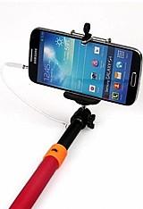 Monopod via p2 - bastao pau de selfie com adaptador - com botao integrado no cabo - frete gratis