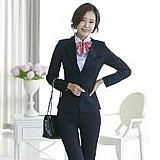 Terno blazer terninho feminino preto slim two way