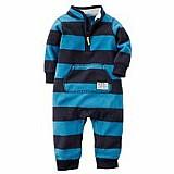 Pijama macacao fleece carters - menino 3 a 24 meses